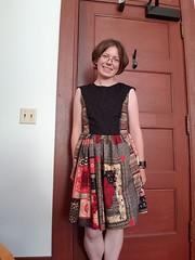 Red and black dress (quinn.anya) Tags: quinn sewing dress