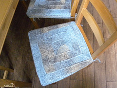 covers for chairs (_vasilka_) Tags: 2018 handmade knit knitting ravelry wool