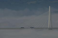 La voie des airs (Michel Seguret Thanks for 15 M views !!!) Tags: france aveyron millau pont bridge viaduc viaduct brouillrd fog mist brume michelseguret nikon d800 pro larzac
