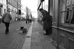 Play that Sax, Not Today (Bury Gardener) Tags: suffolk streetphotography street streetcandids snaps strangers candid candids people peoplewatching folks 2018 nikon nikond7200 england eastanglia uk blackandwhite bw monochrome mono abbeygatestreet