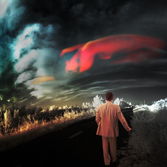 sunset with clouds (old&timer) Tags: background infrared composite textured conceptual song4u oldtimer imagery digitalart laszlolocsei
