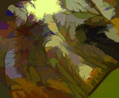 Sonata de Otoño (seguicollar) Tags: imagencreativa photomanipulación art arte artecreativo artedigital virginiaseguí panovisión panosabotaje otoño sonata color colorido samsung8 árboles ramas troncos amarillo verde