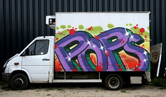 graffiti in Amsterdam (wojofoto) Tags: amsterdam nederland netherland holland graffiti streetart ndsm wojofoto wolfgangjosten pop pops car cargraffiti