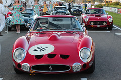 On the Kinrara grid (NaPCo74) Tags: goodwood revival 2018 sussex chichester england british britain lord march duke richmond historic classic racing car legend ferrari red 330 gto 250 gt swb etype type e jaguar coventry motor circuit kinrara trophy austin healey 3000 mk1 canon eos 700d