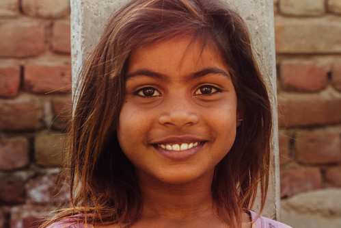 Indian Village Girl Portrait, Uttar Pradesh India