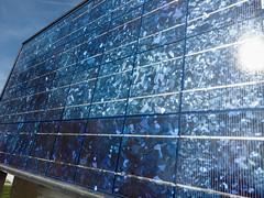 Solar Panel for Solar Fountain 2 (evenkolder) Tags: cern dipole magnet oneplus6 lightroom lightroomforandroid meyrin geneva switzerland solarpanel solar fountain blue