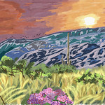 My Travel Paintings - Saguaro National Park Sunset thumbnail