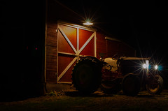 Electric Chicken Coop-3 (sammycj2a) Tags: chickencoop fordtractor fordredbelly redbelly tractor electricity nikon d7000 longexposure nighttime
