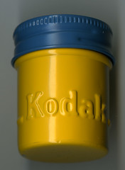 Kodak film cannister owned by Lois M. Bowen (Cambridge Historical Commission) Tags: film filmcannister photography negativecannister cambridgemass cambridgema cambridge