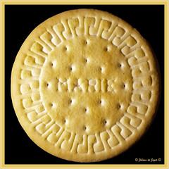 A biscuit called Marie (Johann (Sasolburg, RSA.)) Tags: macromondays bfood biscuit mariebiscuit square squareformat johanndejager ef100mmf28 canoneos5dmarkiv beskuitjie mariebeskuitjie greatphotographers