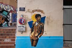 Luiz 'Mistral' Gustavo (Rasande Tyskar) Tags: marseille le panier street art streetart strasenkunst kunst urban sticker stencil graffiti graffito france luiz mistral gustavo om place de lorette