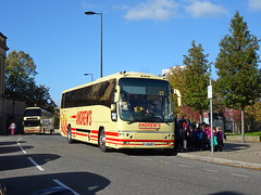 Andrews J9AOT Derby (Guy Arab UF) Tags: andrews tideswell j9aot volvo b12b plaxton panther coach derby full street