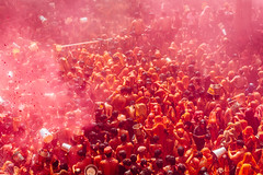 Pink & Orange Holi Celebration, Shri Dauji Temple, Chhabria India (AdamCohn) Tags: 017kmtobaldevinuttarpradeshindia abeer adamcohn baldev chhabria india shridaujitemple uttarpradesh colors geo:lat=27408308 geo:lon=77821850 geotagged gulal holi play wwwadamcohncom अबीर गुलाल baldeo