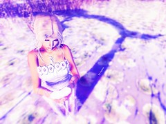 Heart of ice (keyhna) Tags: magic elf woman girl hair faerie fairy tree lake water lily pink purple blue