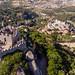 Luftaufnahme von der Burg Castelo Dos Mouros