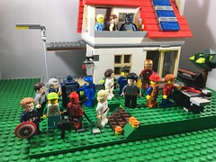 2018-270 - Afterparty (Steve Schar) Tags: 2018 wisconsin sunprairie iphone iphone6s project365 lego minifigure steve kim wesleycrusher wilwheaton doctorwho twelfthdoctor tardis benny spaceship leia captainamerica steverogers deadpool legotravelbuddy camera selfie harrypotter lukeskywalker emmet ironman batman will hansolo house party backyard bbq grill