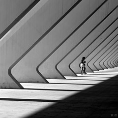She (@noutyboy (Instagram)) Tags: calatrava valencia spain abstract monochrome bnw architecture modernarchitecture explore explored shadow canon canon80d canoneos80d girl woman female blackandwhite spanje zwartwit