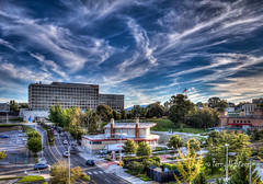 Carilion Community Hospital and Elmwood Park Amphitheater Early Autumn Skies (Terry Aldhizer) Tags: jefferson college health science community carilion hospital elmwood park amphitheater williamson road sky skies early autumn terry aldhizer wwwterryaldhizercom