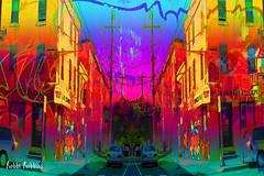 Escape (brillianthues) Tags: city urban street corner philadelphia badlands colorful collage photography photmanuplation photoshop