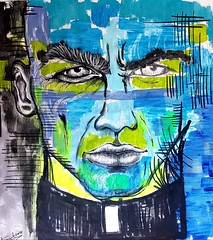 The father (franck.sastre) Tags: painting art streetart colors face father skin eyes lips picture