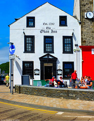 Scotland West Highlands Argyll The Oban Inn opened in 1790 7 July 2018 by Anne MacKay (Anne MacKay images of interest & wonder) Tags: scotland west highlands argyll the oban inn 1790 builing treet people 7 july 2018 picture by anne mackay