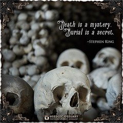 """""""Death is a mystery. Burial is a secret."""" - Stephen King . 💀Turn on post notifications, click link in BIO to follow along on our journey, and sign up on our mailing list at: ☩ sedlecossuary.mechanicalwhispers.com ☩ . 🌟 Lots more exciting annou (Sedlec Ossuary Project) Tags: sedlecossuaryproject sedlec ossuary project sedlecossuary kostnice kutnahora kutna hora prague czechrepublic czech republic czechia churchofbones church bones skeleton skulls humanbones human mementomori memento mori creepy travel macabre death dark historical architecture historicpreservation historic preservation landmark explore unusual mechanicalwhispers mechanical whispers instagram ifttt"""