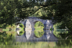 Bridge over the Altmühl (www.holgersbilderwelt.de) Tags: altmühl bayern eichstätt nature beautiful light water travel landscape tree summer architecture morning color art forest river germany autumn pretty europe plant photographer outdoor way botany flora shadow amazing classic kunst weather scenic lovely tranquility historic season culture calm countryside traditional public perspective waterscape alley adorable national park valley aperture rock