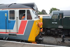 "Network SouthEast Class 50, 50017 ""Royal Oak"" & British Railways Green Class 40, 40106 ""Atlantic Conveyor"" (37190 ""Dalzell"") Tags: nse networksoutheast britishrailways brgreen ee englishelectric type4 whistler class40 vulcanfoundry hoover class50 40106 atlanticconveyor d306 50017 royaloak d417 cfps classfortypreservationsociety svr severnvalleyrailway 50sat50 gala kidderminster"