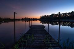 Between D&N (Simoh Lion) Tags: meuse etang ponton sunset coucherdesoleil eau ciel water sky color couloir