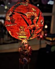 Chinese lantern (SM Tham) Tags: asia southeastasia malaysia kualalumpur sunwayvelocity shoppingmall building interior midautumnfestival chinese lantern flowers butterflies pavilion light glow warm round sphere hanging