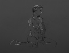 life class model 58 troycrisswell (troycrisswell) Tags: art lifeclass drawing nude girl troycrisswell study sketch
