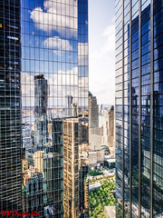 New York City Reflections (Yuri Dedulin) Tags: 2018 blue brookfieldplace brooklynbridge center clouds dedulinyuri downtown fourworldtradecenter greenwichsteet liberty libertypark manhattan ny newyork park reflections sky threeworldtradecenter trade view world worldtradecenter unitedstates city lowermanhattan america usa travel skyline travelphotography skyscraper urbanlandscape unique urban narrow canyons perspective magical glow windows buildings dedulin yuri