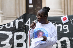 Rosamund Kissi-Debrah - Funeral for the Unknown Cyclist - 13 October 2018 (The Weekly Bull) Tags: climatechange london parliament stopkillingcyclists uk asthma campaigning cycling cyclists demonstration diein diesel funeral lungdisease pollution procession protest roadsafety transport