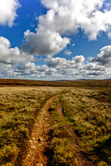 On The Moors (Missy Jussy) Tags: moors moorland path sky bluesky clouds grass countryside landscape lancashire northwest england denshaw outdoor outside 24mm ef24mmf28 canon5dmarkll canon5d canoneos5dmarkii canon