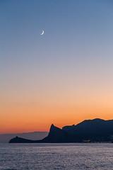 Black Sea Evening (skboris) Tags: bay black cape coast crimea kapchik moon sea south sudak