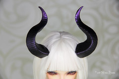 F/S Maleficent horns SD (AnnaZu) Tags: for sale maleficent horns minifee sd msd purple grey sircca fairyline doll bjd fairyland abjd balljointed polymer clay etsy commission annaku vesnushkahandmade
