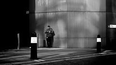 Vape Moments (Sean Batten) Tags: london england uk milkstreet blackandwhite bw streetphotography street person candid vaping nikon df 35mm city urban sign cityoflondon road lines
