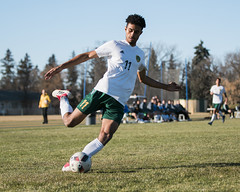 "2018_10_20GoldenBearsSoccer (6) (Don Voaklander) Tags: ""university alberta"" ""don voaklander"" voaklander edmonton alberta canada college university varsity sport sports men man men's male males academic canadian ""canada west"" ""canadian interuniversity sport"" ""u sports"" cis cw ""golden bears"" west universities athletic association"" athlete athletes soccer"