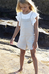 SS181015A LINEN ROMPER Natural and SS18107B WING TOP Cream (ZacaluZoo) Tags: miilovemu kids fashion boho children