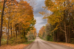 A county road in Autumn
