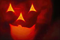 "Jack's Back!- Macro Mondays-""Trick-or-Treat"" (Karon Elliott Edleson) Tags: jackolantern pumpkin macromondays trickortreat macro scary jack light creepy eerie halloween haunted haunting"