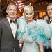 Mayor Garcetti presenting Katy Perry with the Award of Courage at the Ninth Annual amfAR Gala