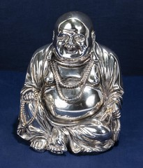 """Cast silver seated Buddha (newpeter) Tags: antique collectables vase silver gold ceramics enamel cinnabar clock clocks watch watches jade ivory glass worcester terracotta bronze buddha """"parian ware"""" """"arts crafts"""" paintings oriental japanese chinese lladro porcelain"""