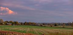 West Langton (Peter Leigh50) Tags: meridian west landscape langton langtons fujifilm fuji field farmland barn clouds sunlight farm trees train track railway railroad rural rail xt2