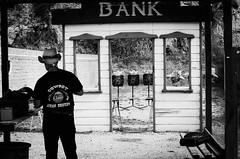35924 - Old Wild West (Diego Rosato) Tags: western shooting shot bank banca cowboy tiro bianconero blackwhite rawtherapee sigma 70200mm nikon d700