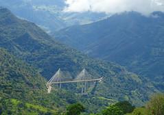 Puente de Hisgaura (ingmanueljerez) Tags: puente brigde cables catenaria montaña verde campo nube cielo camino distancia alto landscape cemento