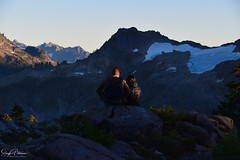 Artist Ridge at Sunset - Mt. Baker-Snoqualmie National Forest (SonjaPetersonPh♡tography) Tags: mtbaker mtbakersnoqualmienationalforest mountains mountbaker mountainvistas mountain sunset nikon nikond5300 whatcomcounty washington washingtonstate stateofwashington scenic scenery snow pnw pacificnorthwest trail artistridgetrail hiking hikingtrails rock sky