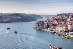 Porto-View (steveNDr) Tags: porto city cityscape building water duoro river harbour ship channel portugal oporto sandemann port boat hdr colourful