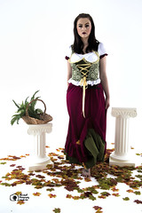 Aisling-IMG_0110 (GolderPhotography) Tags: peasantdress leaves fernsbasket greekcolumns barefooted