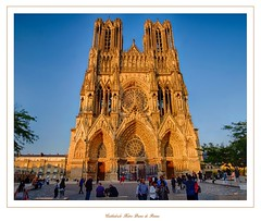 """Cathédrale Notre-Dame"" - Reims (Marne, Champagne, France) (LauterGold) Tags: reims cathédralenotredamedereims marne champagne patrimoinemondial weltkulturerbe unescoworldheritage kathedrale cathedral cathédrale gotik gothique"